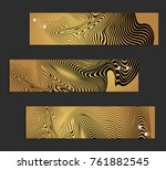 minimal banner templates with... | Shutterstock .eps vector #761882545