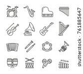 musical instruments  thin... | Shutterstock .eps vector #761885647