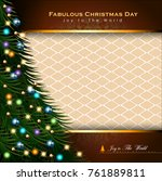 abstract christmas background.... | Shutterstock .eps vector #761889811