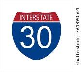 vector illustration interstate... | Shutterstock .eps vector #761890501