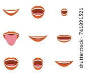 vector illustration flat mouth... | Shutterstock .eps vector #761891521
