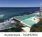 ocean view with a seaside pool | Shutterstock . vector #761892901