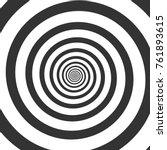 hypnotic spiral. psychedelic... | Shutterstock .eps vector #761893615