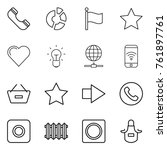 thin line icon set   phone ... | Shutterstock .eps vector #761897761