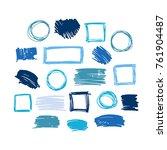 blue vector  strokes of marker... | Shutterstock .eps vector #761904487