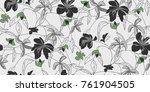 seamless floral pattern in... | Shutterstock .eps vector #761904505