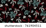 seamless floral pattern in... | Shutterstock .eps vector #761904511
