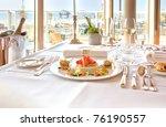 Luxury Table In Restaurant