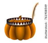 pumpkin with a headband... | Shutterstock .eps vector #761908549