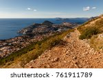 path in the mountain | Shutterstock . vector #761911789