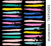 brush strokes set backgrounds.... | Shutterstock .eps vector #761914201