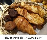 bread for eating with coffee | Shutterstock . vector #761915149