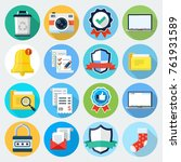 flat icons set 15. | Shutterstock .eps vector #761931589