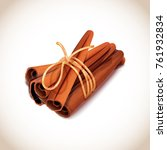 closeup of some cinnamon sticks ... | Shutterstock .eps vector #761932834