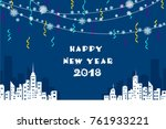 new year background with a... | Shutterstock .eps vector #761933221