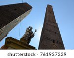 the two towers  garisenda and... | Shutterstock . vector #761937229
