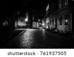 an ancient street in the... | Shutterstock . vector #761937505