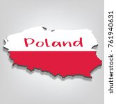 poland 3d map flag | Shutterstock .eps vector #761940631