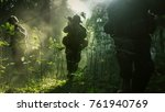 fully equipped soldiers wearing ... | Shutterstock . vector #761940769