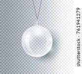 christmas ball made of glass ...   Shutterstock .eps vector #761941279