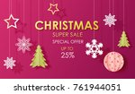 christmas special sale pink... | Shutterstock .eps vector #761944051