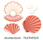 Pink Seashell With Pearl....