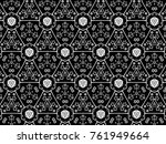 ornament with elements of black ... | Shutterstock . vector #761949664