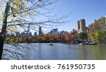 central park lake nyc | Shutterstock . vector #761950735