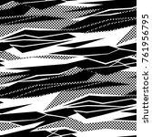 camouflage pattern background... | Shutterstock .eps vector #761956795