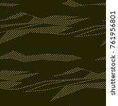 camouflage pattern background... | Shutterstock .eps vector #761956801