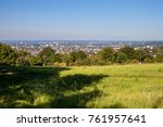 view on a city of bonn from... | Shutterstock . vector #761957641