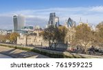 tower of london and city of... | Shutterstock . vector #761959225