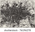 Vector Historical Map Of London ...