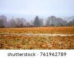 winter at kreuzberg hill  bonn  ... | Shutterstock . vector #761962789