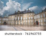 the royal amalienborg palace in ... | Shutterstock . vector #761963755