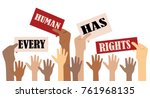 international human rights day | Shutterstock .eps vector #761968135