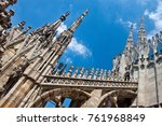detail of gothic cathedral of... | Shutterstock . vector #761968849