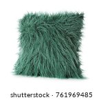 soft fluffy pillow  isolated on ... | Shutterstock . vector #761969485