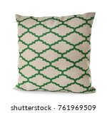 soft patterned pillow  isolated ... | Shutterstock . vector #761969509