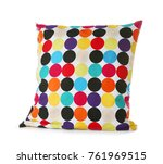 soft patterned pillow  isolated ... | Shutterstock . vector #761969515