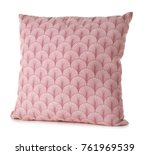 soft pink pillow  isolated on... | Shutterstock . vector #761969539
