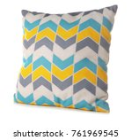 soft patterned pillow  isolated ... | Shutterstock . vector #761969545