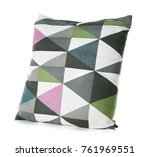 soft patterned pillow  isolated ... | Shutterstock . vector #761969551