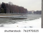 slowly falling snow in the... | Shutterstock . vector #761970325