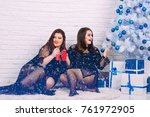 party and celebration. winter... | Shutterstock . vector #761972905