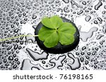 Five Leaf Clover With Zen Ston...