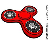 fidget spinner   a vector... | Shutterstock .eps vector #761982991
