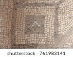 old mosaic  background from... | Shutterstock . vector #761983141