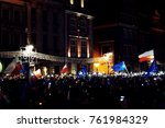 Small photo of Poznan, Poland - 11/24/2017 - Poland protests in the defense of the independent courts and democracy