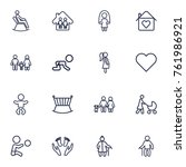 set of 16 people outline icons... | Shutterstock .eps vector #761986921